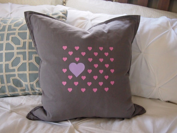Items similar to Valentines Pillow Cover Custom Pillow Throw Pillow Photo Prop Heart pillow love ...