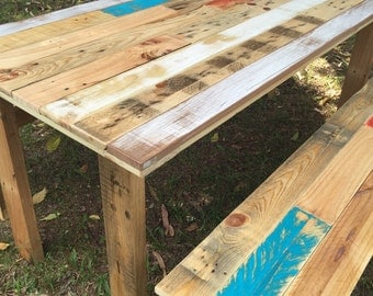 Rustic Farm Table and Benches - Shipping NOT Included