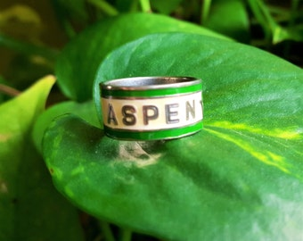 Aspen Colorado Ski Vintage Souvenir Novelty Ring US Ring Size 6   A2