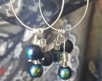 Multicoloured Dangle Hoop