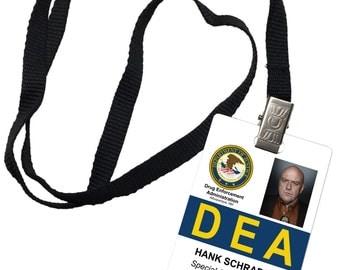 Hank Schrader DEA Novelty ID Badge Prop Costume Breaking Bad