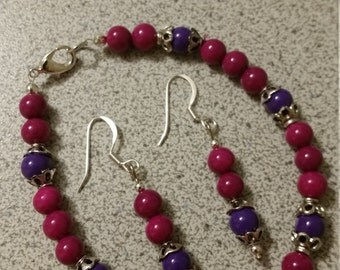 Sweet Raspberry and plum bracelet.  See Christmas Special below regarding shipping.