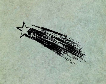 Shooting Star Halley's Comet - Antique Style Clear Stamp
