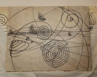 Particle trails painting, 30cm x 50cm