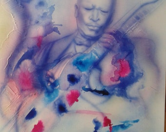 BB KING blues King painting on canvas