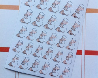 Happy Mail/Delievery Sheep Emoji/Character Planner Stickers - SHEEPIE