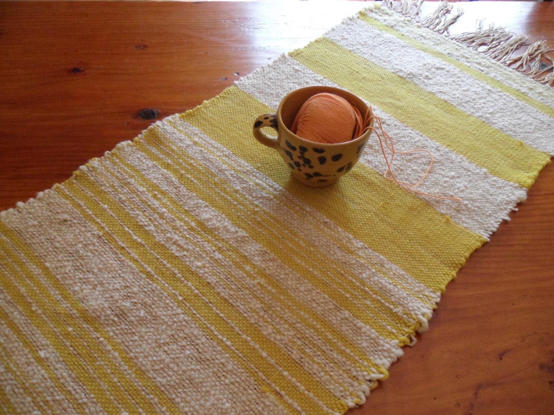 Runner centro tavolo forma rettangolare tessitura a mano e - Telaio da tavolo per tessitura a mano ...