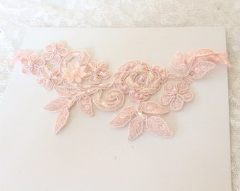 wedding garter,pink lace garter,bridal garter,wedding accessories,