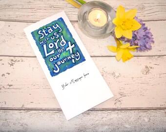 Christian Greeting Card; Watercolour, Prayer Card, Personalised Card, Custom Message; Good Luck Card; Handpainted, Digital Print; Cross Card