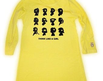 Think Like A Girl Tunic Yellow Size 6