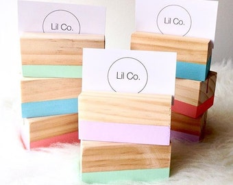 Painted Wooden Photo Blocks