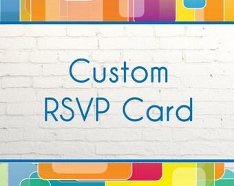 Custom Matching RSVP Card