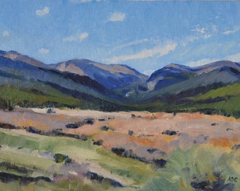 Colorado Rocky Mountain landscape oil painting western art american impressionism