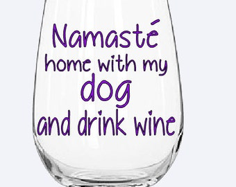 Namaste home with my dog/cat and drink wine