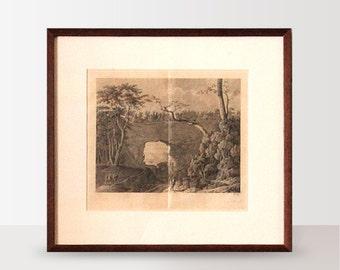 Engraving - framed antique print, New Zealand art