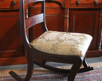 Regency sabre-leg rocking chair - antiques