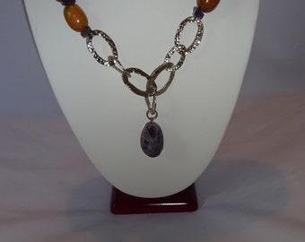 Exotic Wood necklace, bracelet, earing set.