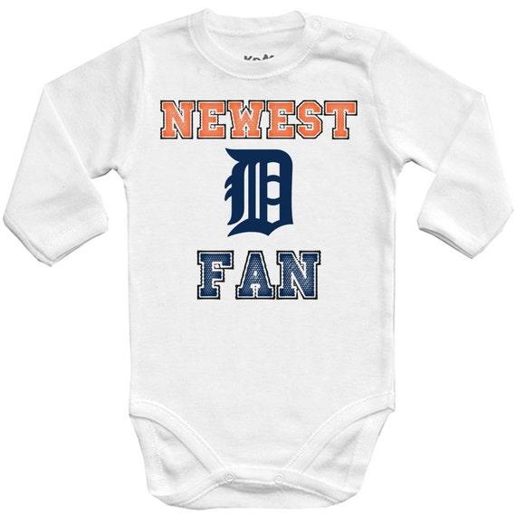 Detroit Tigers Newest fanMLB Baby Vest Baby Bodysuit Baby