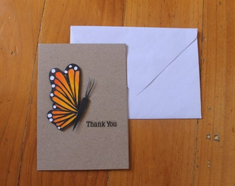 Thankyou card - Monarch Butterfly
