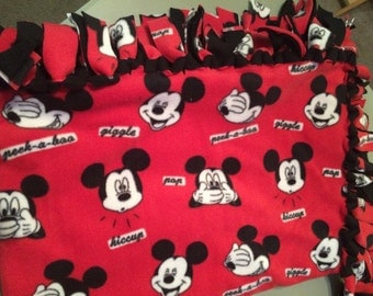 Mickey Mouse Tie Blanket