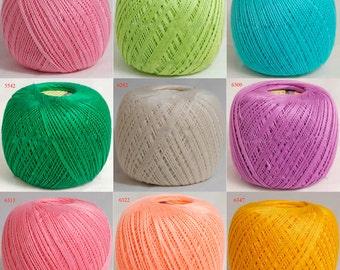 Crochet yarn, yarn for knitting, yarn for crochet, cotton yarn, mercerized cotton, Lily yarn art, lace yarn, yarn for sale