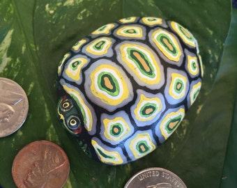 Hand painted Rock Turtle
