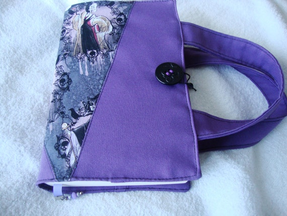 Fabric Book Covers With Handles : Fabric book cover with handles upcycle