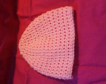 Pink toddler hat