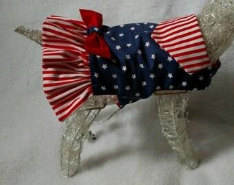 4th of July dog dress