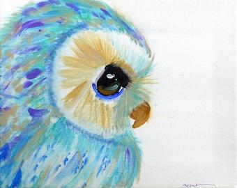 Gentle Owl Painting