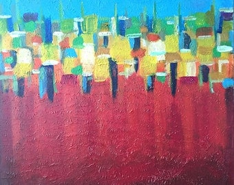 Inferno,Red,Abstract Art,Abstract Painting,Large Art, Canvas Art,Modern Wall Art,Large Abstract Painting,Acrylic,Painting On Canvas,decor