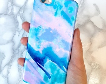Phone Case, Pretty Blue 'Azure' Unique Phone Case, Sky Print iPhone Case, Blue Pretty Phone Case, Samsung iPhone Blue Phone Case