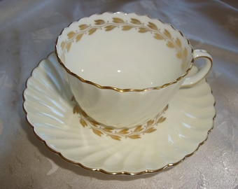 Minton CHEVIOT GOLD Tea Cup and Saucer ~ S534