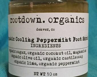 Organic Cooling Peppermint Foot Scrub