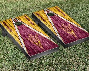 Arizona State Sun Devils Cornhole Game Set Triangle Designs