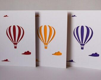 hot air ballon card