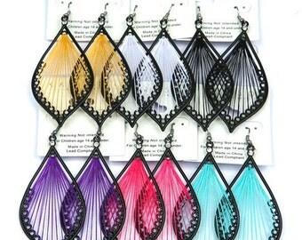 Dangle Chandelier String Earrings