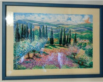 Painting,, Magical landscape of my soul,,