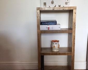 Solid wood handmade recycled wood bookcase, shelving unit, display unit, storage unit