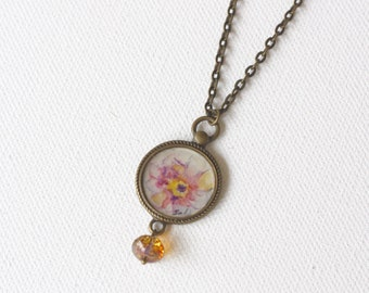 Hand-painted Pendant Necklace/ Blossom Collection