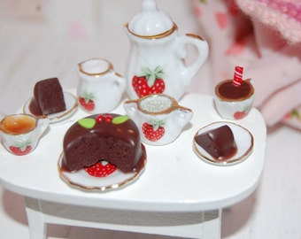 Tea Set Dollhouse 1/12e