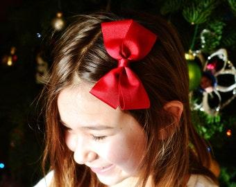 Cranberry Red Pinwheel Bow