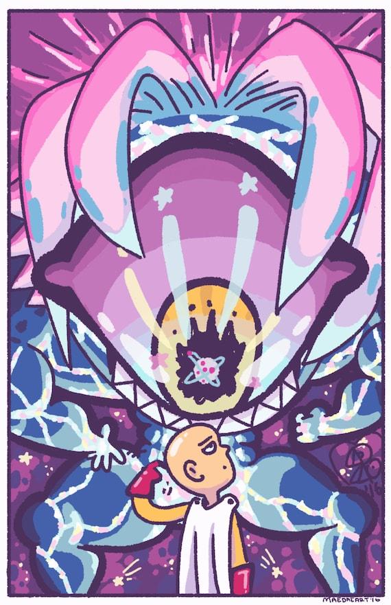 Saitama vs. Boros One Punch Man Fan Art Print