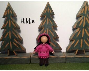 Little Sister Hildie - Pocket Doll - Bendy Doll