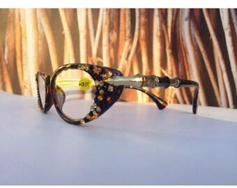Swarovski crystal reading glasses  +1.75 +3.00