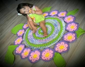 Crochet Turtle rug