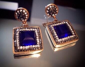 Very elegant, 925 sterling silver authentic earrings, Made in Turkey, Grand bazaar