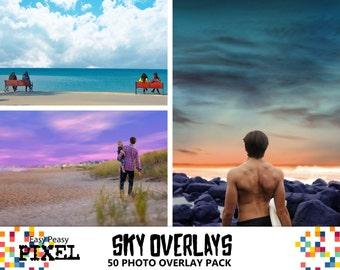 SKY PHOTOSHOP OVERLAYS, Skies Overlays, Sky Overlays, Photoshop Skies, Cloud Overlays, Weather Overlays