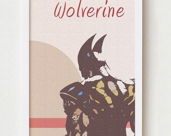 Wolverine print wall art home decor colorful poster