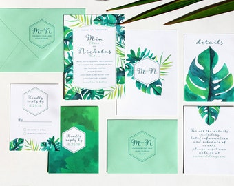 Tropical Wedding Invitation Sample